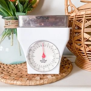 """Vintage 80s 90s Kitchen Scale """"The Gourmet Weigh"""""""